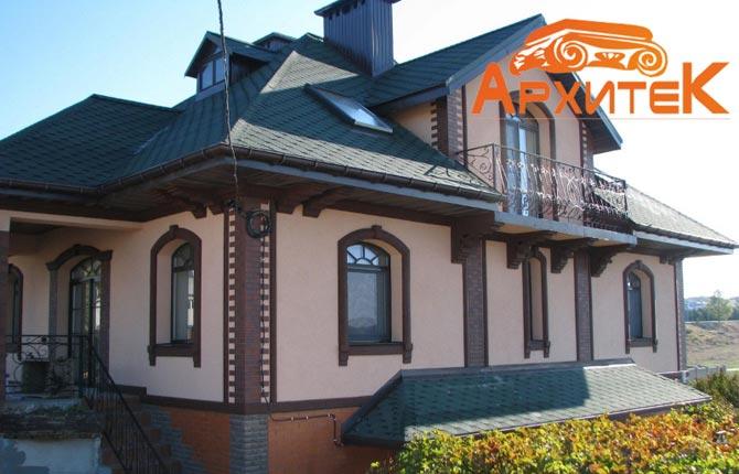 Декор фасада частного дома фото